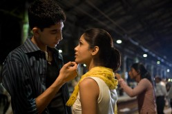 Dev Patel as Jamal Malik and Anil Kapoor as Prem Kumar from Slumdog Millionaire