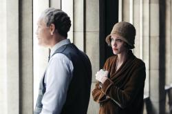 Reverend Gustav Briegleb (John Malkovich) and Christine Collins (Angelina Jolie)