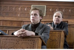 Michael and Professor Rohl (Bruno Ganz)