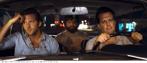 Phil Wenneck (Bradley Cooper), Alan Garner (Zach Galifianakis) and Stu Price (Ed Helms)