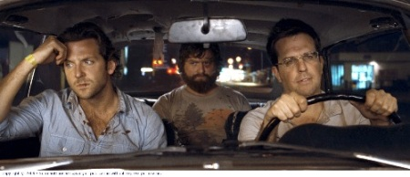 Phil Wenneck (Bradley Cooper), Alan Garner (Zach Galifianakis) and Stu Price (Ed Helms)