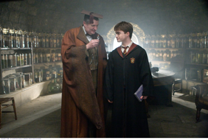 Professor Horace Slughorn (Jim Broadbent) and Harry
