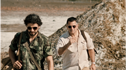 José Ramos-Horta (Oscar Isaac) and Roger East (Anthony LaPaglia)