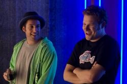 George Simmons (Adam Sandler) and Ira Wright (Seth Rogan)