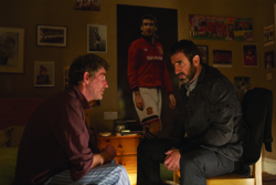 Eric Bishop (Steve Evets) and Eric Cantona