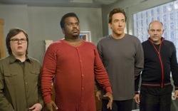 Hot Tub Time Machine: Jacob (Clark Duke), Nick (Craig Robinson), Adam (John Cusack) and Lou (Rob Corddry)