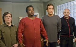 Hot Tub Time Machine: Jacob (Clark Duke), Nick (Craig Robinson), Adam (John Cusack) and Lou (Rob Corddry)