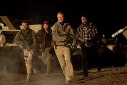"The A-Team: Face (Bradley Cooper), Murdock (Sharlto Copley), Hannibal (Liam Neeson) and BA Baracus (Quinton ""Rampage"" Jackson)"
