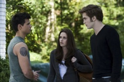 The Twilight Saga: Eclipse - Jacob Black (Taylor Lautner), Bella Swan (Kristen Stewart) and Edward Cullen (Rob Pattinson)