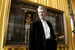 David Lynch at the Air is on Fire exhibition, Paris, 2007