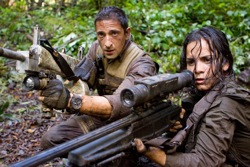 Predators:  Royce (Adrien Brody) and Isabelle (Alice Braga)