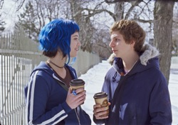 Scott Pilgrim vs. the World: Ramona Flowers (Mary Elizabeth Winstead) and Scott Pilgrim (Michael Cera)