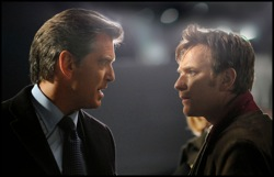 The Ghost Writer: Adam Lang (Pierce Brosnan) and The Ghost (Ewan McGregor)