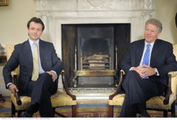 The Special Relationship: Tony Blair (Michael Sheen) and Bill Clinton (Dennis Quaid)