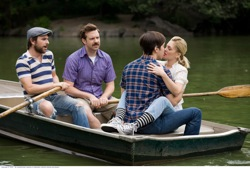 Going the Distance: Dan (Charlie Day), Box (Jason Sudeikis), Garrett (Justin Long) and Erin (Drew Barrymore)