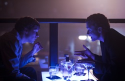 The Social Network: Mark Zuckerberg (Jesse Eisenberg) and Sean Parker (Justin Timberlake)