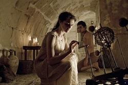 Agora: Hypatia (Rachel Weisz) and Davus (Max Minghella)