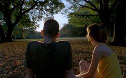 Enter the Void: Oscar (Nathaniel Brown) and Linda (Paz de la Huerta)