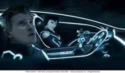 TRON: Legacy - Sam Flynn (Garrett Hedlund) and Quorra (Olivia Wilde)