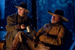 True Grit: Mattie Ross (Hailee Steinfeld) and LaBoeuf (Matt Damon)