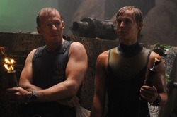 Sanctum: Frank (Richard Roxburgh) and Josh (Rhys Wakefield)