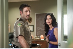 "Scream 4: Sheriff Dwight ""Dewey"" Riley (David Arquette) and Gale Weathers-Riley (Courteney Cox)"