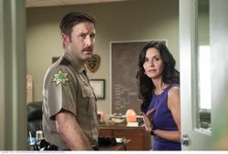 "Scream 4: Sheriff Dwight ""Dewey"" Riley (David Arquette) and Gale Weathers-Riley (Courteney Cox)"