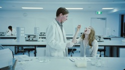 Sleeping Beauty: Student Doctor (Jamie Timony) and Lucy (Emily Browning)