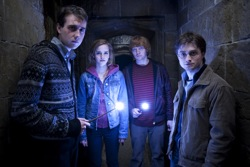 Harry Potter and the Deathly Hallows: Part 2 - Neville Longbottom (Matthew Lewis), Hermione Granger (Emma Watson), Ron Weasley (Rupert Grint) and Harry Potter (Daniel Radcliffe)