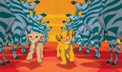 The Lion King: Young Nala (Niketa Calame) and Young Simba (Jonathan Taylor Thomas)