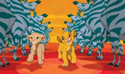 The Lion King: Young Nala (Niketa Calame) and Young Simba (Jonathan Taylor Thomas)