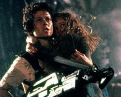 Aliens: Ellen Ripley (Sigourney Weaver) and Rebecca 'Newt' Jorden (Carrie Henn)
