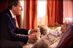 The Eye of the Storm: Sir Basil Hunter (Geoffrey Rush) and Elizabeth Hunter (Charlotte Rampling)