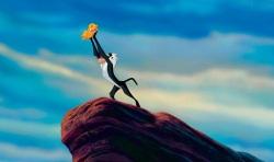 The Lion King: Young Simba (voiced by Jonathan Taylor Thomas) and Rafiki (Robert Guillaume)