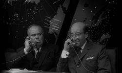 Dr Strangelove: Ambassador Alexi de Sadesky (Peter Bull) and President Merkin Muffley (Peter Sellers)