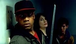 Attack the Block: Moses (John Boyega), Sam (Jodie Whittaker) and Brewis (Luke Treadaway)
