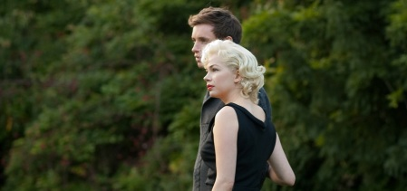 My Week with Marilyn: Colin Clark (Eddie Redmayne) and Marilyn Monroe (Michelle Williams)
