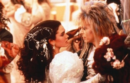 Labyrinth:  Sarah Williams (Jennifer Connolly) and Jareth the Goblin King (David Bowie)