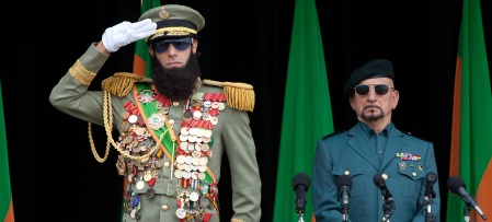 The Dictator: Admiral General Aladeen (Sacha Baron Cohen) and Tamir (Ben Kingsley)