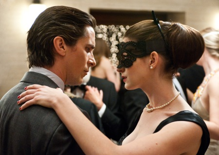 The Dark Knight Rises: Bruce Wayne (Christian Bale) and Selina Kyle (Anne Hathaway)