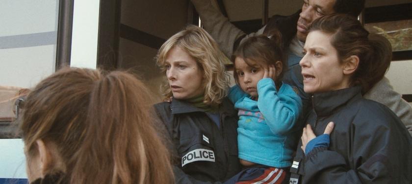 Polisse: Nadine (Karin Viard), Fred (Joeystarr) and Iris (Marina Foïs)