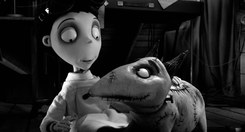 Frankenweenie: Victor Frankenstien (voiced by Charlie Tahan) and Sparky