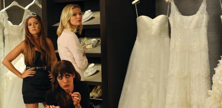 Bachelorette: Katie Lawrence (Isla Fisher). Gena Myers (Lizzy Caplan) and Regan Crawford (Kirsten Dunst)