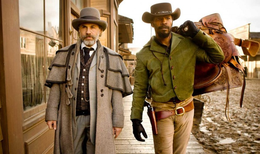Django Unchained: Dr King Schultz (Christoph Waltz) and Django Freeman (Jamie Foxx)