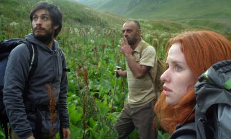 The Loneliest Planet: Alex (Gael García Bernal), Dato (Bidzina Gujabidze) and Nica (Hani Furstenberg)