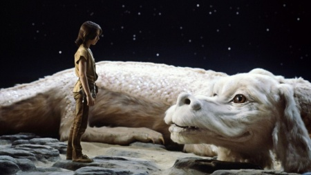 The NeverEnding Story: Atreyu (Noah Hathaway) and Falkor (voiced by Alan Oppenheimer)