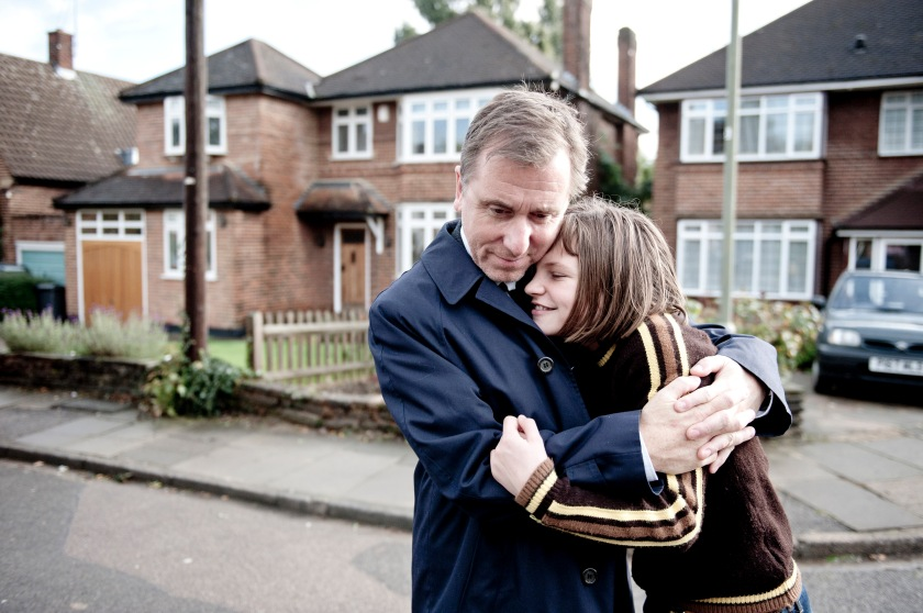 Broken: Archie (Tim Roth) and Skunk (Eloise Laurence)