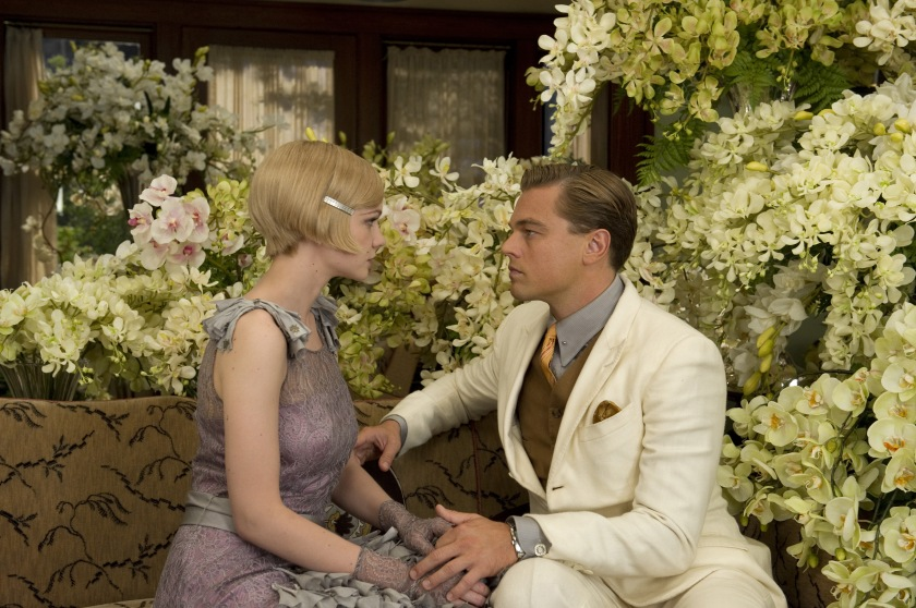 The Great Gatsby: Daisy Buchanan (Carey Mulligan) and Jay Gatsby (Leonardo DiCaprio)