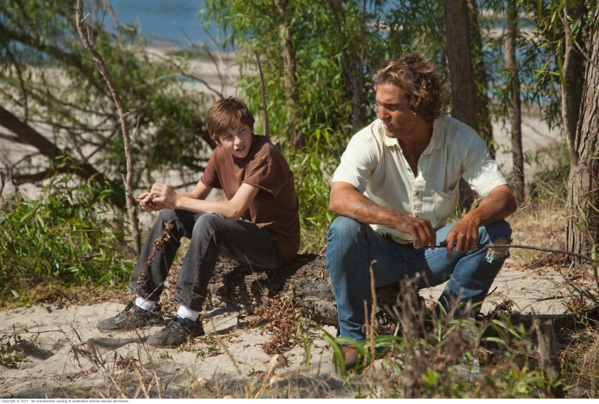 Mud: Ellis (Tye Sheridan) and Mud (Matthew McConaughey)