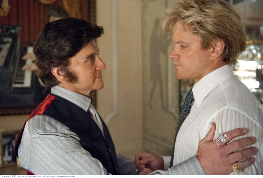Behind the Candelabra: Liberace (Michael Douglas) and Scott Thorson (Matt Damon)